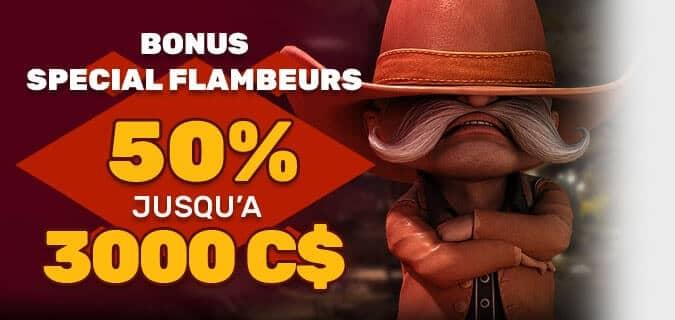 PlayAm Bonus Spécial Flambeurs