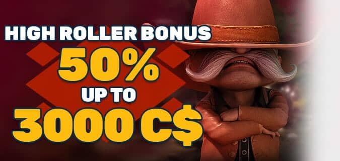 Bonus for High Rollers